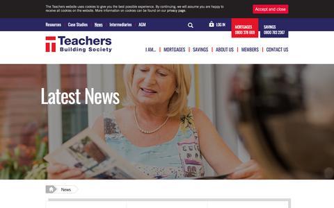 Screenshot of Press Page teachersbs.co.uk - News | Teachers Building Society - captured Oct. 18, 2018