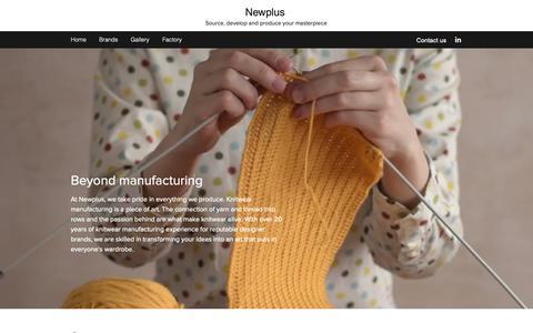 Screenshot of Home Page newplus.com.hk - Home | Newplus - captured Oct. 18, 2018