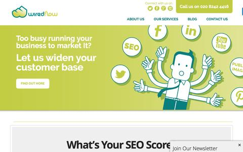Screenshot of Home Page wiredflow.com - Wiredflow | UK Leading SEO, Consulting and Social Media Agency - captured Aug. 18, 2016