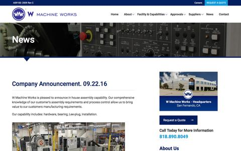 Screenshot of Press Page wmwcnc.com - Careers | W Machine Works - captured Dec. 2, 2016
