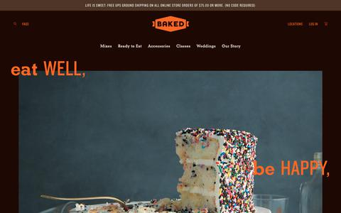 Screenshot of About Page bakednyc.com - Our Story   Baked - captured Aug. 1, 2018