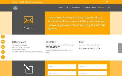 Screenshot of Contact Page justkandco.com - Contact Us - K Consultants & Co Ltd - captured Sept. 28, 2018
