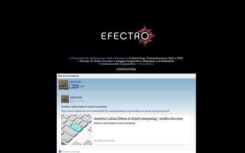Screenshot of Home Page efectro.com - EFECTRO • Diseño Gráfico, Web e Imagen Integral - captured Sept. 26, 2014