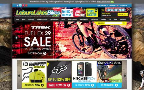 Screenshot of Home Page leisurelakesbikes.com - Leisure Lakes Bikes | Mountain Bikes | Road Bikes | Specialized | Cube - captured Sept. 19, 2014