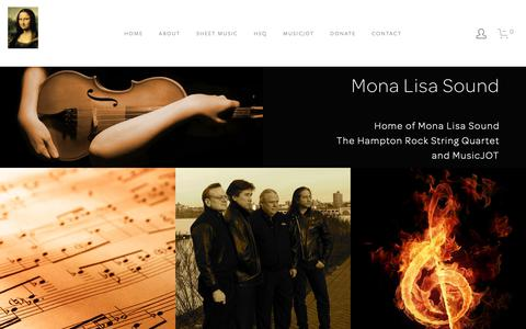 Screenshot of Home Page monalisasound.com - Mona Lisa Sound - captured Oct. 31, 2018