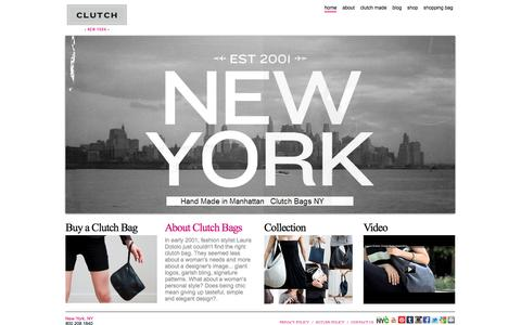 Screenshot of Home Page clutchbags.com - CLUTCH Bags | Shop Designer clutch bags|  purses | - captured Sept. 30, 2014