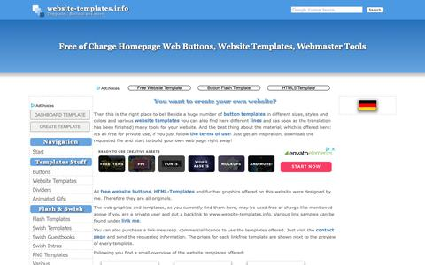 Screenshot of Home Page website-templates.info - Free HTML Web Templates, Website Buttons Download, Flash, Swish - captured Oct. 23, 2018