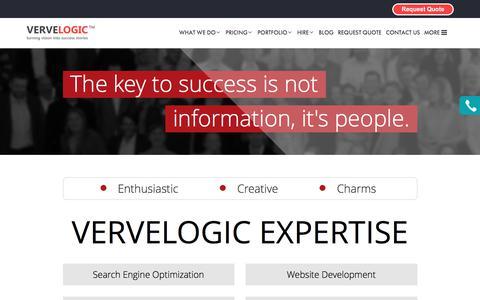 Screenshot of About Page vervelogic.com - VerveLogic   About Us - captured June 12, 2017