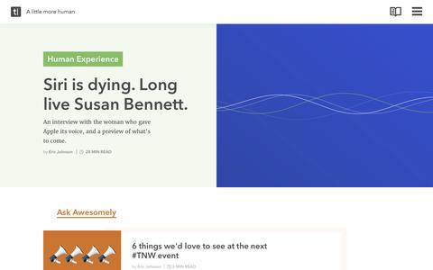 Screenshot of Home Page Blog typeform.com - A little more human | Typeform blog - captured May 25, 2017
