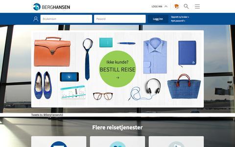 Screenshot of Home Page berg-hansen.no - Berg-Hansen - Start - captured Sept. 20, 2015