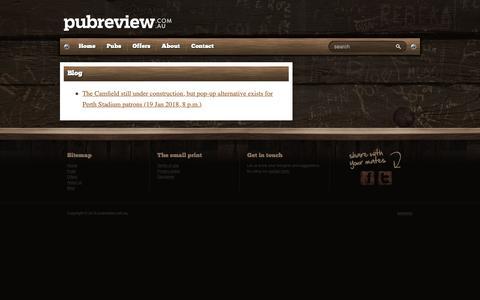 Screenshot of Blog pubreview.com.au - pubreview.com.au - captured Sept. 30, 2018