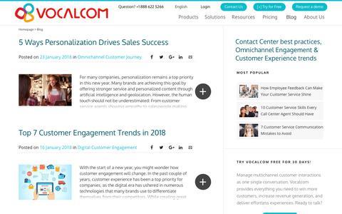 Screenshot of Blog vocalcom.com - Contact Center Blog - Tips, Resources, Guides and Articles - Page 6 - captured Dec. 11, 2018