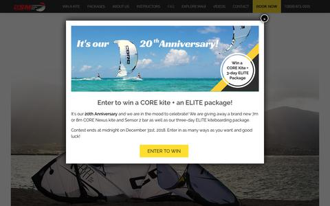 Screenshot of FAQ Page ksmaui.com - Frequently Asked Questions about Kiteboarding - captured Oct. 15, 2018