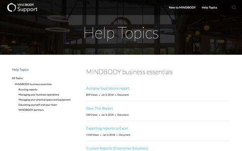 MINDBODY business essentials
