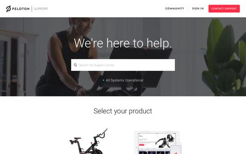 Screenshot of FAQ Page Support Page pelotoncycle.com - Peloton Support - captured Aug. 9, 2017