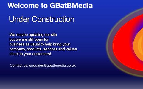 Screenshot of Home Page gbatbmedia.co.uk - Welcome to GBatBMedia - captured May 11, 2017