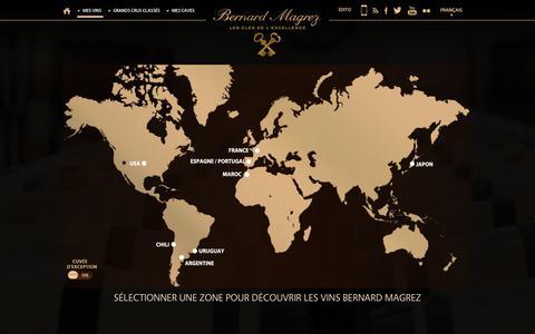 Screenshot of Maps & Directions Page bernard-magrez.com - Bernard Magrez - Propriétaire de grands crus classés à Bordeaux - captured Sept. 25, 2014