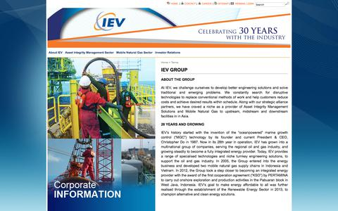 Screenshot of Terms Page iev-group.com - IEV GROUP » IEV Group - captured Sept. 26, 2018
