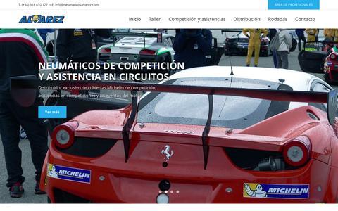 Screenshot of Home Page neumaticosalvarez.com - Home - Neumáticos Álvarez - captured Aug. 12, 2016