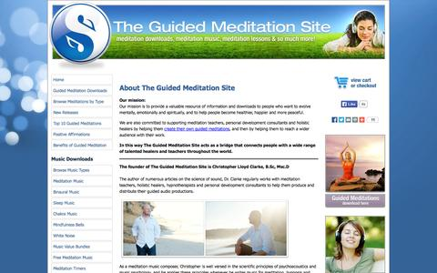 Screenshot of About Page the-guided-meditation-site.com - About The Guided Meditation Site - captured Nov. 4, 2014