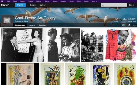 Screenshot of Flickr Page flickr.com - Flickr: Chalirosso Art Gallery's Photostream - captured Oct. 22, 2014