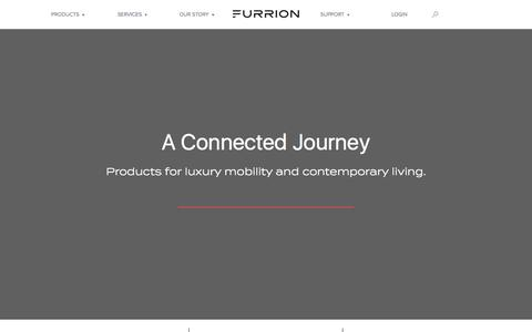Screenshot of Home Page furrion.com - Furrion - Reinventing luxury living - captured Aug. 23, 2018