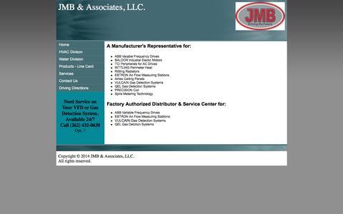 Screenshot of Home Page jmb-assoc.com - JMB & Associates, LLC. Home - captured Feb. 4, 2016