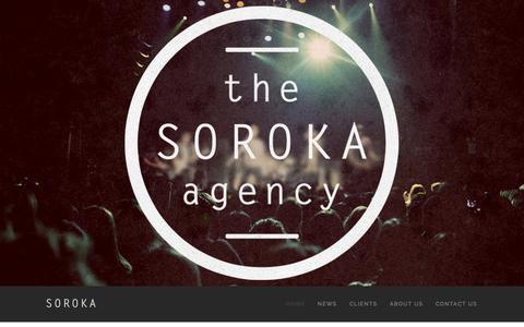 Screenshot of About Page Contact Page thesorokaagency.com - The Soroka Agency - captured Oct. 29, 2014