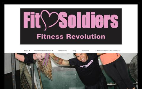 Screenshot of Team Page fitsoldiers.com - Our Team – Fit Soldiers Fitness Revolution - captured June 6, 2017