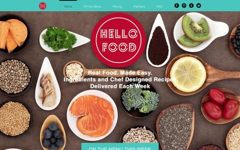Screenshot of Home Page hellofood.ie - Hello Food - Real Food Made Easy - captured July 21, 2015