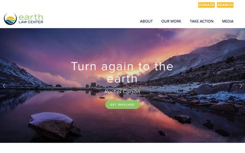 Screenshot of Home Page earthlawcenter.org - Earth Law Center - captured Dec. 5, 2015