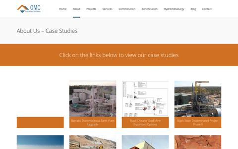 Screenshot of Case Studies Page orway.com.au - About Case Studies - Company Profile - Orway Mineral Consultants - captured Nov. 15, 2017