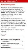 New Landing Page Bain & Company