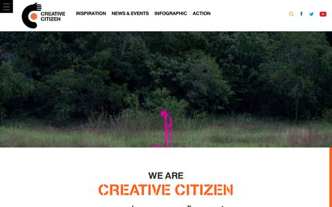 Screenshot of About Page creativecitizen.com - About | Creative Citizen - captured Oct. 19, 2018