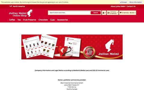 Screenshot of Privacy Page meinl.com - Julius Meinl Imprint - captured Nov. 27, 2016