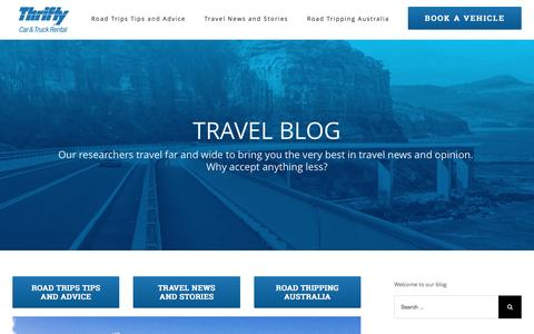 Screenshot of Blog thrifty.com.au - Travel Blog - Thrifty Blog - captured Nov. 27, 2016