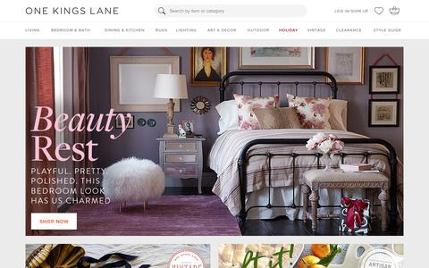 Screenshot of Login Page onekingslane.com - Furniture, Sofas, Rugs, Bedding, Home Decor | One Kings Lane - captured Dec. 15, 2015