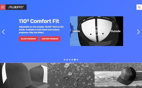 Screenshot of Home Page flexfit.com - Flexfit/Yupoong - Custom Hat Manufacturer & Wholesale Blank Hats - captured Dec. 11, 2015