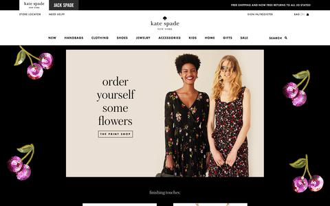 Screenshot of Home Page katespade.com - Kate Spade New York – Handbags, Clothing, Jewelry and All Your New Favorites! - captured Aug. 25, 2017