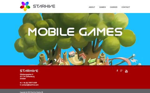 Screenshot of Home Page starhive.com - StarHive Home - StarHive - captured Oct. 7, 2014
