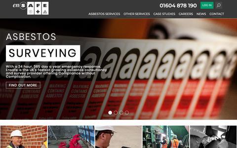 Screenshot of Home Page ensafe.co.uk - Welcome to Ensafe - Ensafe - captured Sept. 28, 2018