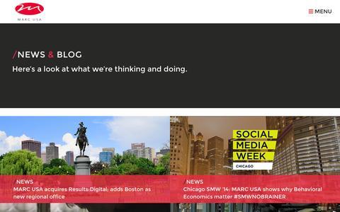 Screenshot of Press Page marcusa.com - MARC USA | News & Blog - captured Sept. 24, 2014