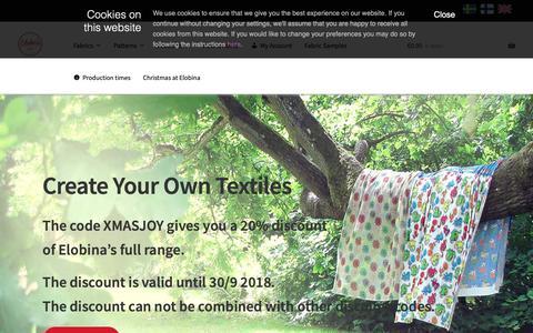Screenshot of Home Page elobina.com - Welcome - Elobina International - captured Sept. 28, 2018