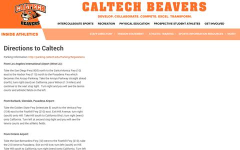 Screenshot of Maps & Directions Page gocaltech.com - Directions to Caltech -  Caltech - captured Jan. 27, 2018
