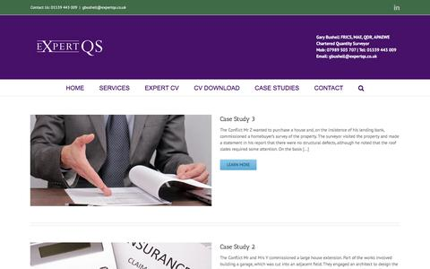 Screenshot of Case Studies Page expertqs.co.uk - Portfolio | Expert QS - captured Nov. 14, 2016