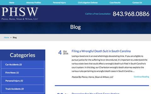 Screenshot of Blog phswlaw.com - Immigration Attorney Blogs | News and Updates - captured Nov. 6, 2016