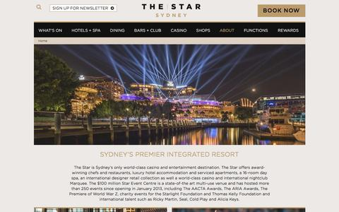 Screenshot of About Page star.com.au - About Us | The Star Sydney - captured Jan. 11, 2016