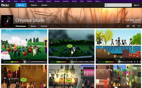 Screenshot of Flickr Page flickr.com - Flickr: Chrysaor Studio's Photostream - captured Oct. 22, 2014