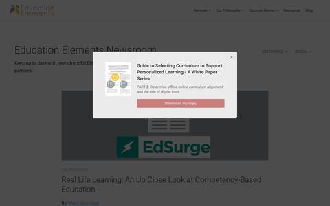 Screenshot of Press Page edelements.com captured June 19, 2017