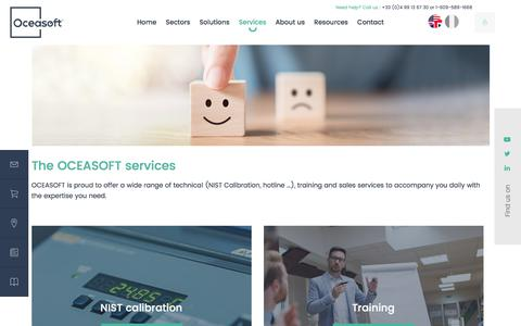 Screenshot of Services Page oceasoft.com - Monitoring System Services | Support and Training | OCEASOFT - captured July 12, 2019